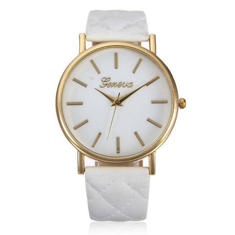 Watch Women Casual Roman Leather Band Analog Quartz Wrist Watch - babiesrhere