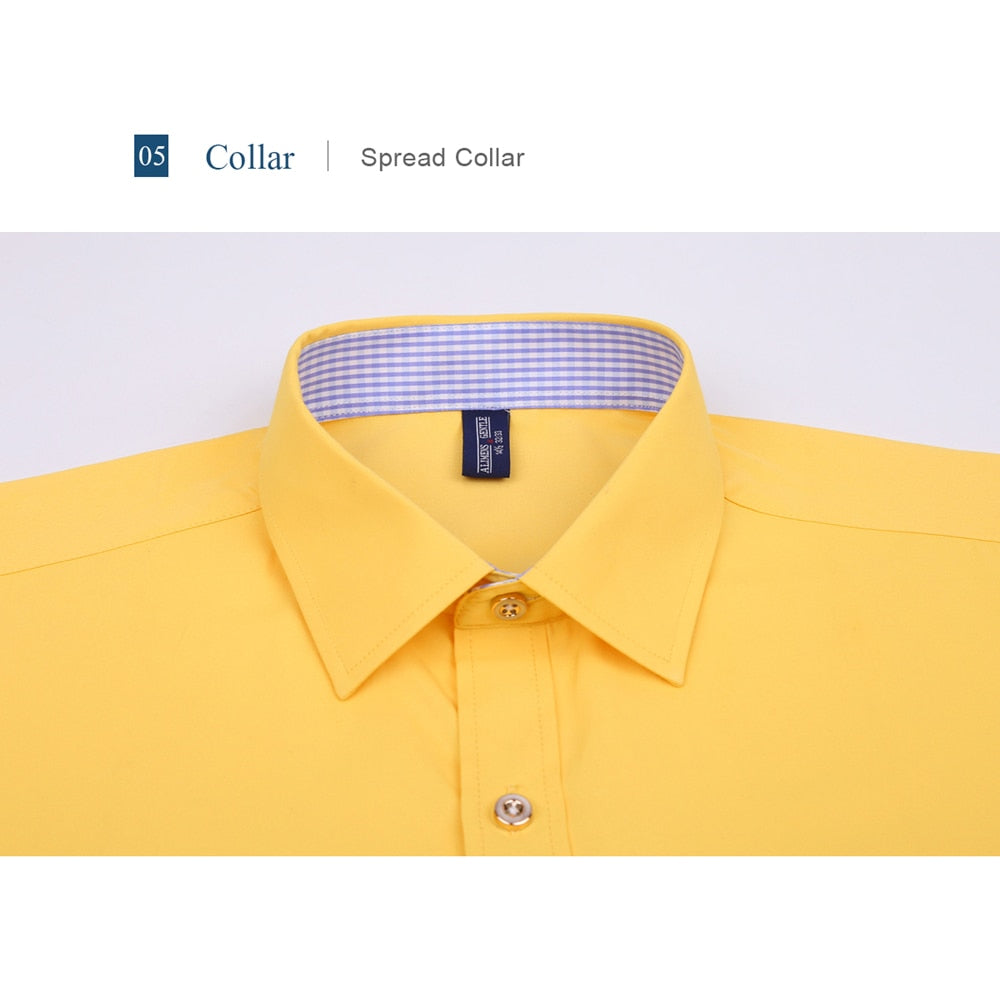 16841a0e496 Gentle Mens French Cuff Dress Shirt Men Long Sleeve Solid Color Striped  Style Cufflink
