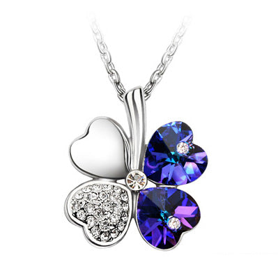 Anngill four leaf clover pendant necklace crystals from swarovski anngill four leaf clover pendant necklace crystals from swarovski elements quality jewelry women babiesrhere aloadofball Image collections