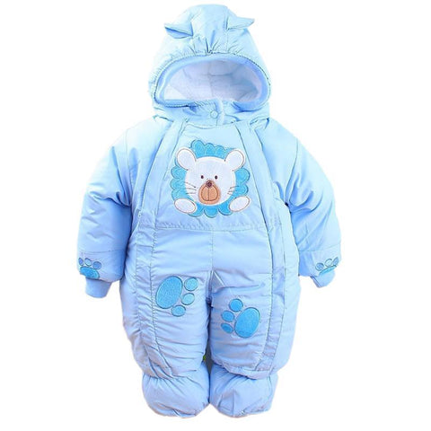 Newborn Baby Rompers Cotton-padded Baby Boys Girls Jumpsuits Cartoon Infant Overalls - babiesrhere