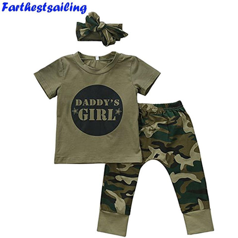 Baby Girls Boys Clothes Set 2018 New Summer Newborn Baby Girl Clothing  Short Sleeve T Shirt Pant Toddler Camouflage Outfits Set - babiesrhere