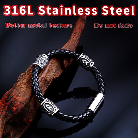 Beier 316L Stainless Steel 24pcs Runes Charms Beads Norse Viking Pagan Aromatherapy Amulet Odin  DIY Bracelets Bangles jewelry - babiesrhere