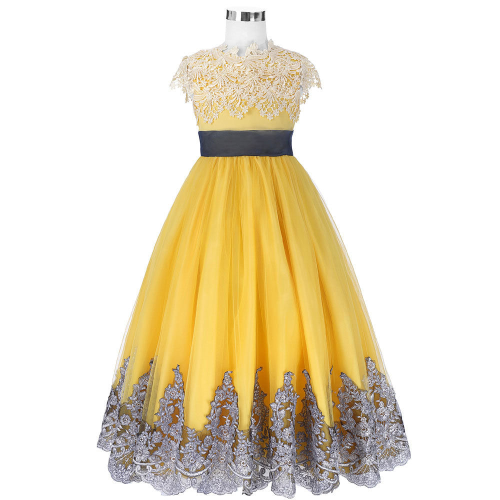 Girls dresses pricess ball gown yellow flower girl dresses for girls dresses pricess ball gown yellow flower girl dresses for wedding party gowns kids dress mightylinksfo