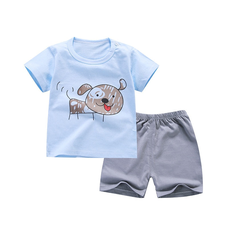 6c2ccae3fb0b Cartoon New Style Infant Clothes Baby Girls Clothing Cotton Short Sleeve Baby  Boy Clothes