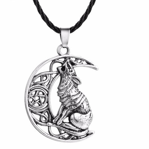 Money Wolf Celti Moon Viking Odin Dog Necklace & Pendant
