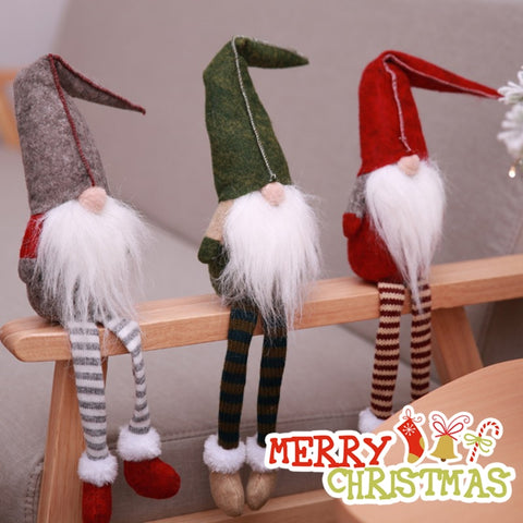 Cute Sitting Long-legged Elf Festival new year Christmas Decorations for Home - babiesrhere