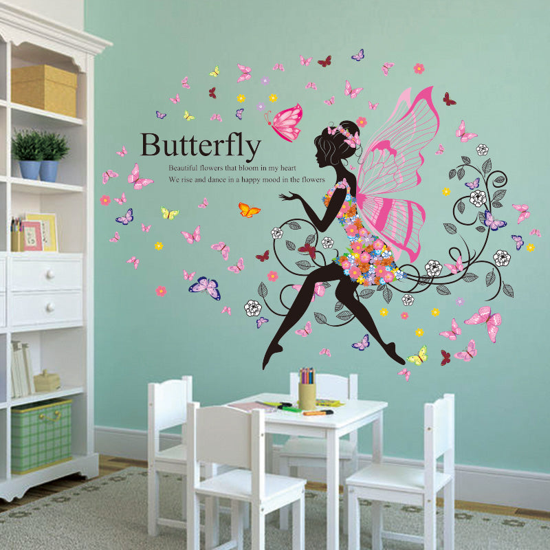 Wall Home Decor Dancing Girl Art Wall Stickers For Kids Bedroom Wall  Decoration