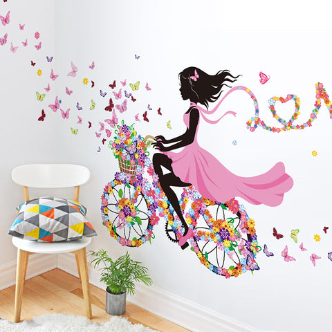 Wall Home Decor Dancing Girl Art Wall Stickers For Kids Bedroom Wall Decoration - babiesrhere