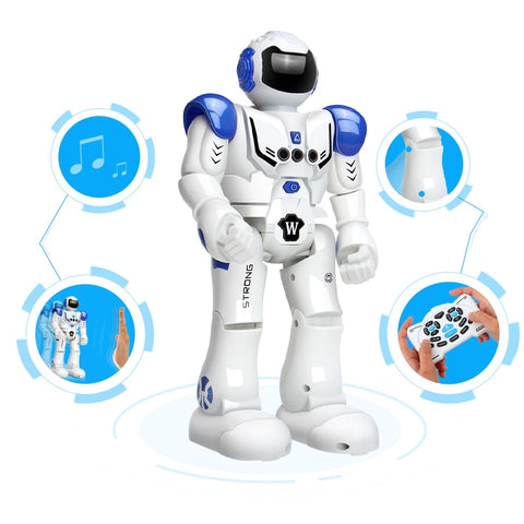 Robot USB Charging Dancing Gesture Action Toy Robot Control RC Robot Toy for Boys - babiesrhere