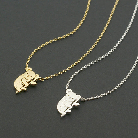 Gold Silver Koala Necklace