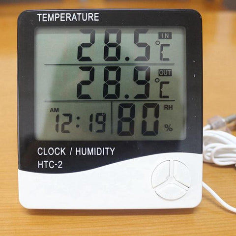 Digital LCD Thermometer Hygrometer Electronic Temperature Humidity Meter Alarm Clock