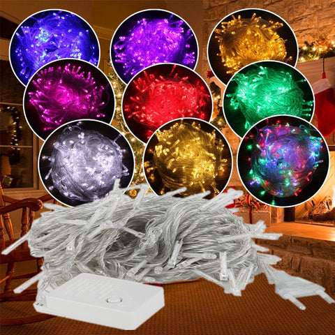10M 5M 100Led 40Led String Garland Christmas Tree Fairy Light Luce Waterproof Decoration - babiesrhere