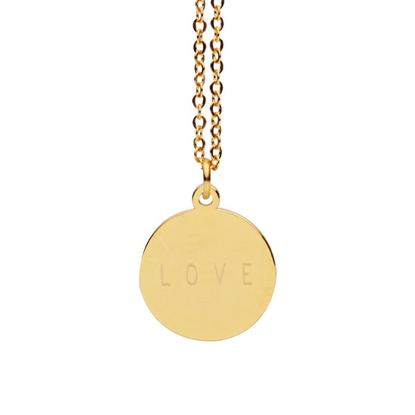 personalized engrave custom name necklace gold color circle bar