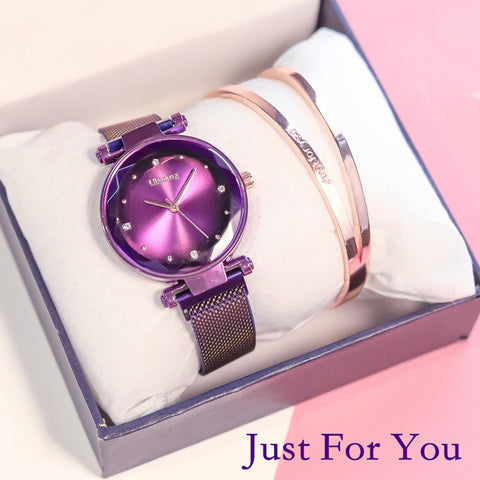 Exquisite Magnet Magnetic Force Unique Creative Band Luxury Quartz Ladies Watch - babiesrhere