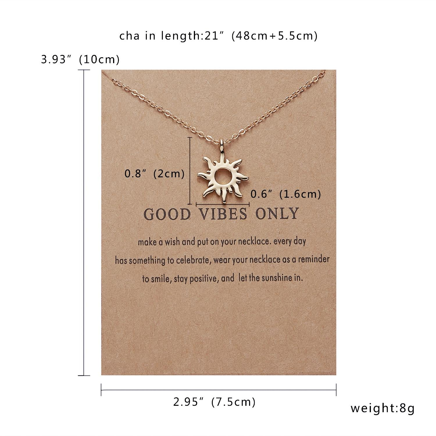 1b8d4566f8b6d0 ... Fashion Gold-color Good Vibes Only Sun Necklaces & Pendants For Women  Jewelry - babiesrhere ...