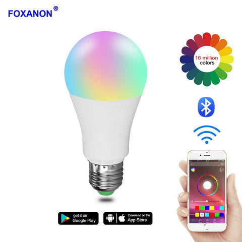 Smart Bluetooth 4.0 RGB LED Lamp KTV Party Decor Holiday Bulb Light - babiesrhere