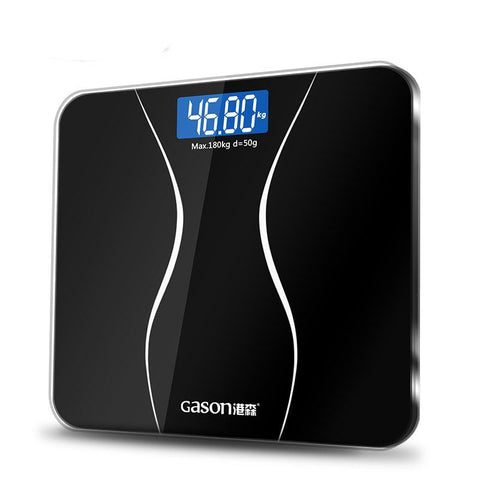 Bathroom Body Scales Glass Smart Household Electronic Digital Floor Weight Bariatric LCD Display - Babiesrhere