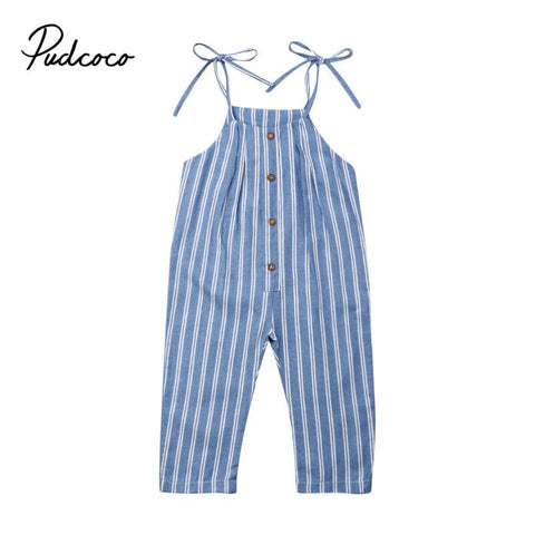 Pudcoco Newborn Infant Baby Girl Boy Striped  Romper Babygrow Sleeveless Summer Clothes Jumpsuit Playsuits 1T-5T - babiesrhere