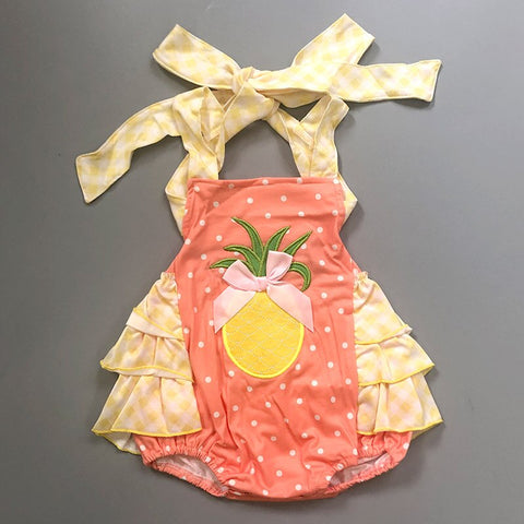 baby girl clothes Summer Pineapple embroidery CONICE NINI Baby Girl Clothes newborn bodysuits body baby Bodysuit - babiesrhere