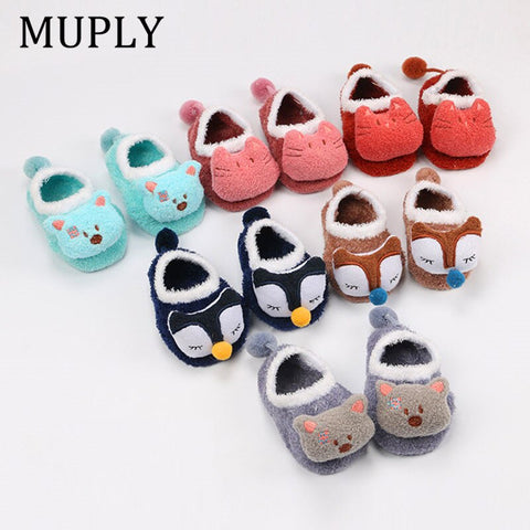 Newborn Baby Fox Socks Coral Fleece Cute Meias Cartoon Sokken Soft Animal Patter Baby Boy Socks Baby Girl Socks Indoor Shoes - babiesrhere