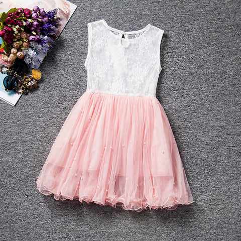Summer Baby Party Dress For Girls Lace Flower Wedding Kids Tutu Dresses Children Princess Party Dresses 3-7 years Sundress Kids - babiesrhere