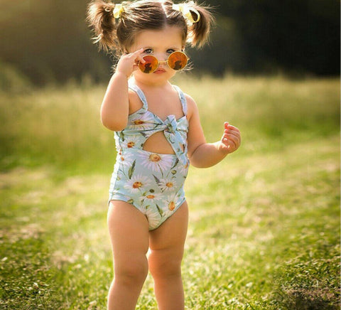 2019 New Kid Baby Girl Floral Swimwear Bathing Suit Cute Summer Toddler Beachwear Baby Girl Clothing Outfits - babiesrhere