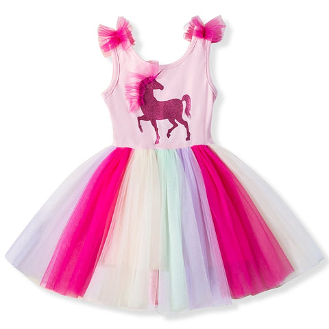 3 4 5 6 7 8 Years Baby Fancy Unicorn Dress for Girls Princess Unicornio Party Dresses Children Kids Dresses for Girl Costume - babiesrhere