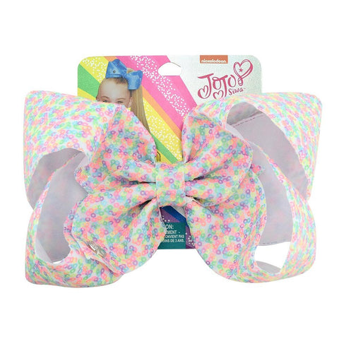 JOJO Siwa Bbay Hair Bow Clips Rainbow 8Inch Large Sequins Glitter Sparkly Boutique Alligator Clips for Girls Teens Cheer Bow - babiesrhere