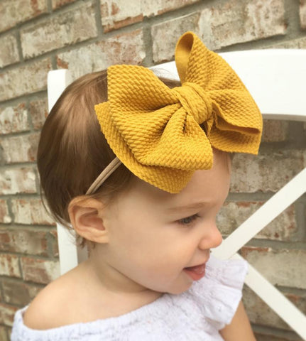 Big Bow Turban Headband Baby Girl Headbands for Girls Baby Haarbandjes Baby Headband Nylon Baby Hair Accessories - babiesrhere