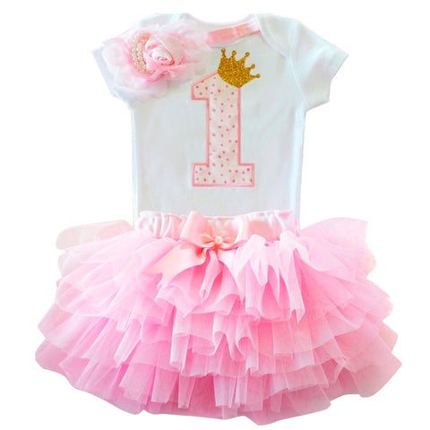 Dress for Girl Baby Christening Gown First 1st Birthday Party Girl Baby Clothing Toddler Summer Clothes Infant Vestido Infantil - babiesrhere