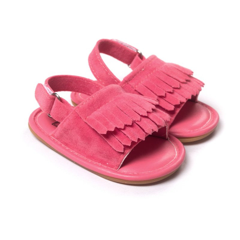 dd9b9c7a43da8 Hot Sale Baby Sandals Summer Leisure Fashion Baby Girls Sandals of Children  PU Tassel Clogs Shoes 7 Colors L6