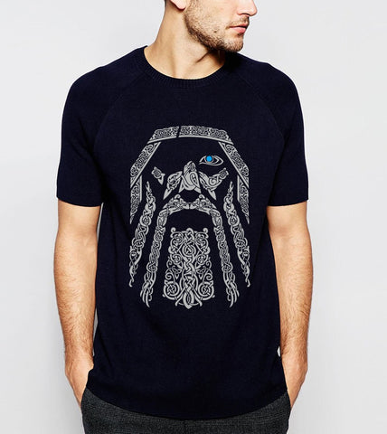 Hot Sale Odin Vikings T-Shirt Men 2019 Summer Round Neck T-Shirts 100% Cotton Men's Tshirt Fitness Loose Fit Tee Shirts S-XXL - babiesrhere