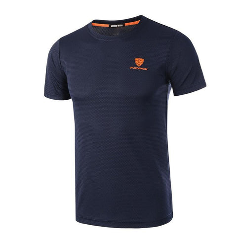 2019 Mens Quick Dry Breathable T-Shirt Spring Summer Fitness Short Sleeve TShirt - babiesrhere