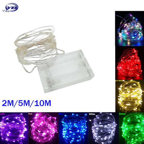 LED String lights 10M 5M 2M Silver Wire Fairy light Christmas Wedding Party Decoration - babiesrhere