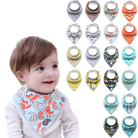 4pcs/lot New Baby Bibs For Boy&Girl Burp Cloths Bandana Bibs Baby Bandana - babiesrhere