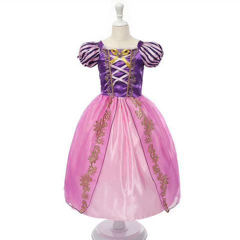 Girls  White Princess Costume Children Cinderella Aurora Sofia Halloween Party Dress