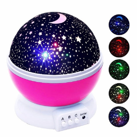 Romantic Starry Sky LED Night Light Projector Battery USB Night Light Creative Toys