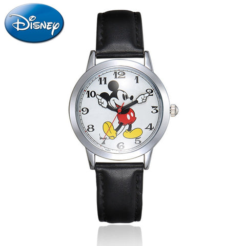 Women Quartz Round Watch Authentic Mickey Mouse Cutie Girl Boy Love Watches - babiesrhere