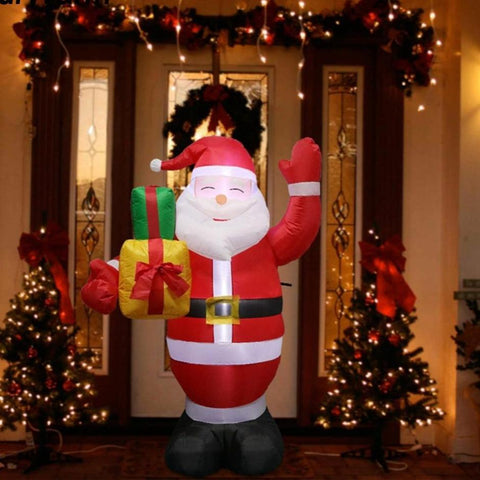 150cm Santa Claus Christmas Airblown Inflatable Statue Outdoor Garden New Year - babiesrhere