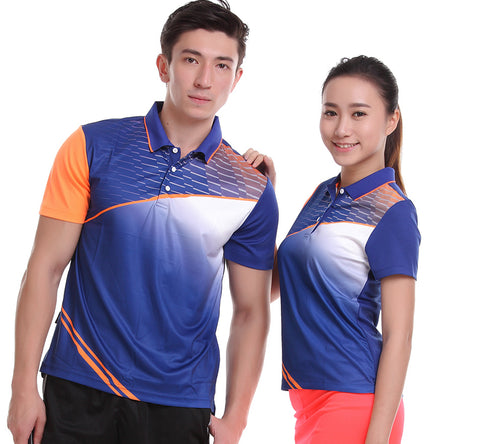 Sportswear Quick Dry breathable badminton shirt ,Women/Men table tennis team T Shirts