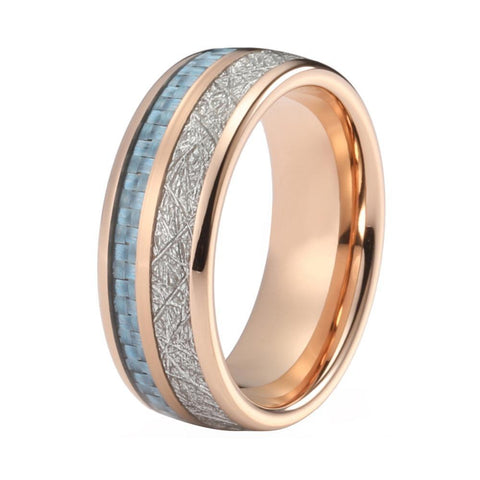 Rose Gold Wedding Band Tungsten Wedding Rings For Men And Women