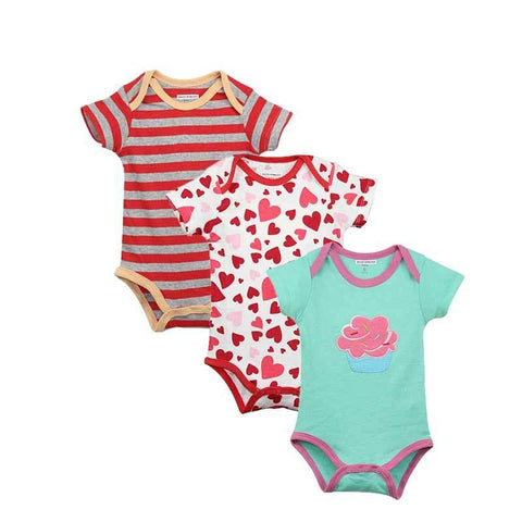 New Baby Bodysuit Lovely Printing Jumpsuit Pure Cotton Short Boys Girls Baby Clothes - babiesrhere