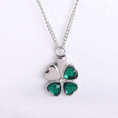 Necklaces & pendants Four Leaf Clover crystal Perfume box necklace
