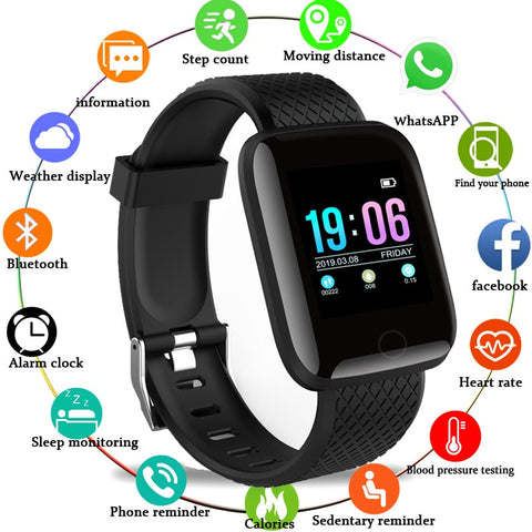 Men Blood Pressure Waterproof Women Heart Rate Monitor Fitness Tracker Smartwatch - babiesrhere