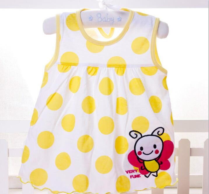 30e9ea2d04f5 Princess 0-1years Girls Dress Cotton Clothing Dress Summer Girls Clothes