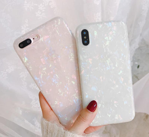 Glitter Phone Case For iPhone 7 8 Plus Dream Shell Pattern Cases For iPhone