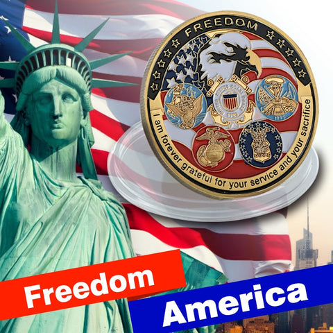 The American Freedom Gold Plated Coin