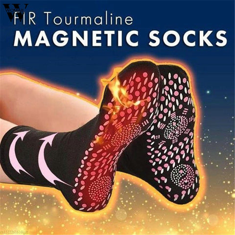 Socks Unisex FIR Tourmaline Magnetic Socks Self Heating Therapy Magnetic Socks - babiesrhere