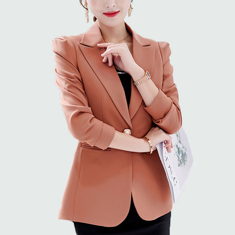 Women Blazers And Jackets Work Office Lady Suit Slim Single Button Business Blazer Coat