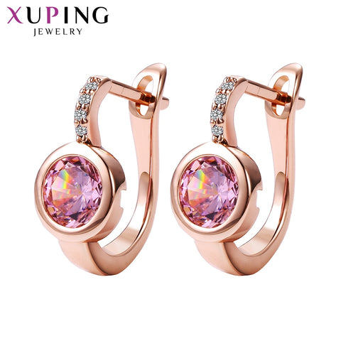 New Design Hoop Earrings with Synthetic Cubic Zirconia Valentine's Day Luxury Jewelry - babiesrhere